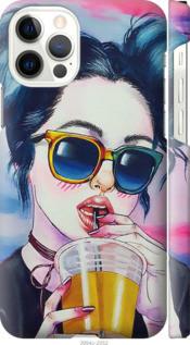 "Чохол Apple iPhone 12 Pro Арт-дівчина в окулярах ""3994c-2052-25032"""