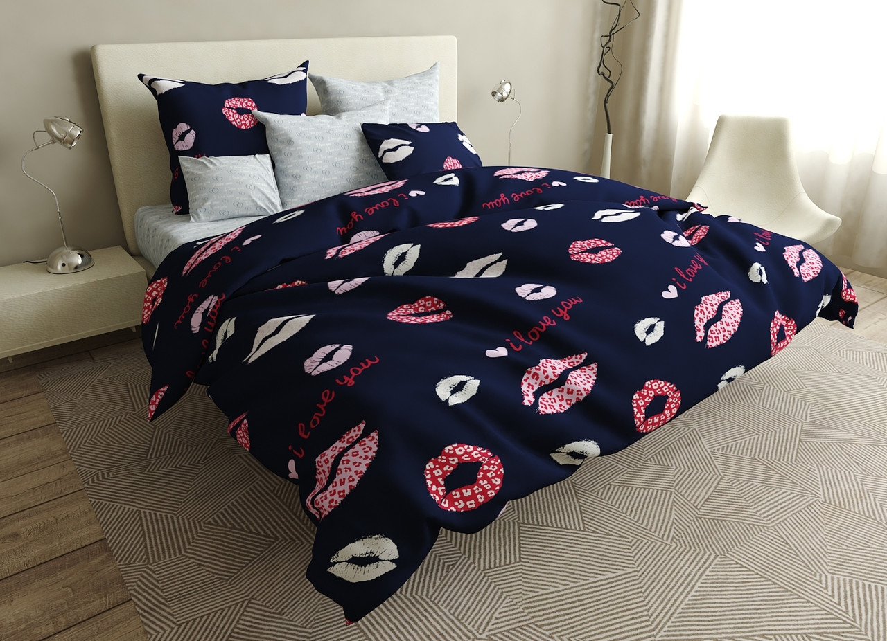 Двуспальный комплект постельного белья евро 200*220 ранфорс  (16591) TM KRISPOL Украина
