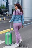 Женский трикотажный спортивный костюм двунить батал весна, фото 2