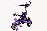Велосипед детский 3-х колесный с ремнями безопасности Mars Trike фиолетовый