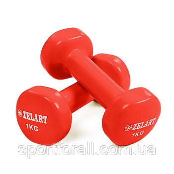 Гантели для фитнеса с виниловым покрытием Beauty 2х1кг TA-5225-2шт