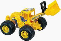Бульдозер игрушечный с широкими колесами PILSAN желтый