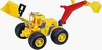 Бульдозер игрушечный с 2-мя ковшами PILSAN