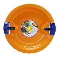 Ледянка тарелка пластиковая с боковыми бортиками (65х65х7) Fun Ufo [Orange]