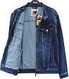Куртка чоловіча джинсова синього кольору Pagalee батал, фото 2