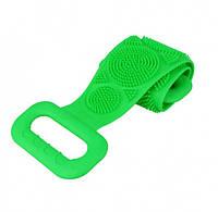 Двухсторонняя силиконовая мочалка-массажер для тела Silica Gel Bath Brush Зеленая 184778