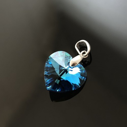 Підвіска (кулон) і Серце з кристалом Swarovski