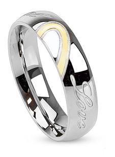 Кільце з нержавіючої сталі з гравіюванням справжня любов, 316L Spikes (США)