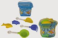 Песочный набор, 5 предметов в ведре PILSAN