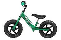 Детский велосипед без педалей. Велобег MARS 12 зеленый