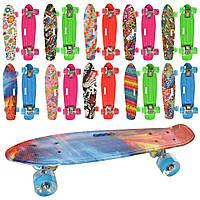 Скейтборд скейт дитячий пенні колеса ПУ, світло