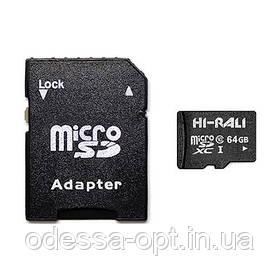 Карта пам яти microSDXC (UHS-1) 64GB class 10 Hi-Rali (з адаптером)