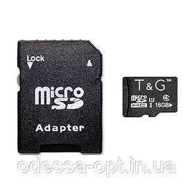 Карта пам яти microSDHC 16GB class 4 T&G (з адаптером)