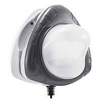 Подсветка для бассейна Intex 28698 магнитная, настенная. Работает от блока питания 220-240 V