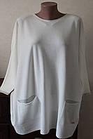 Кофточка жіноча з люрексом на карманах