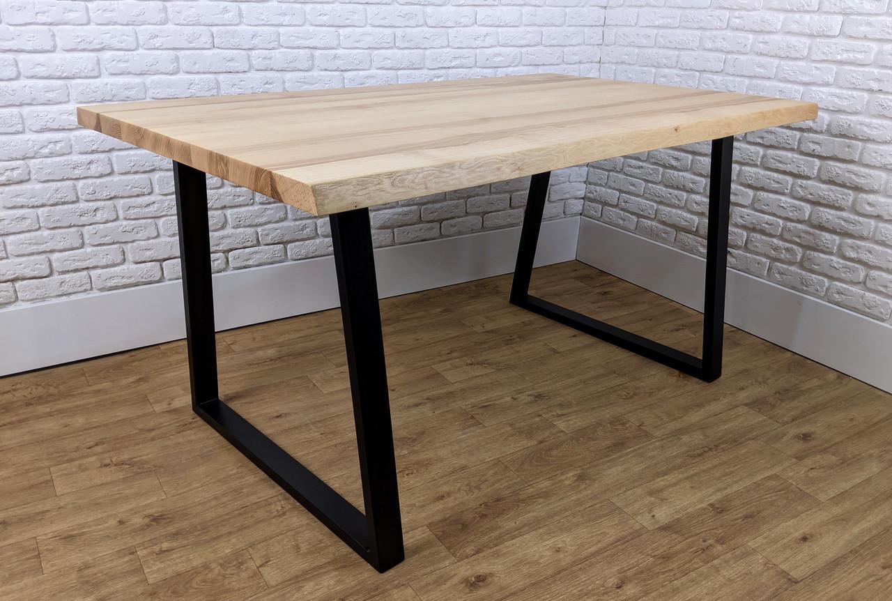 """Письмовий стіл з дерева """"ANA"""" в стилі лофт зі зрізами по краях"""
