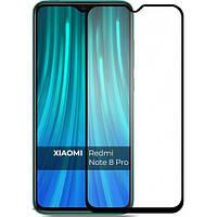 Защитное стекло для Xiaomi Redmi Note 8 Pro на весь экран 5д стекло на телефон сяоми нот 8 про черное NFD