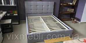 М'яке Ліжко 160 Брістоль Підйомне з ламеллю Білий Екошкіра Мат