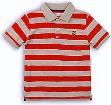 Детская футболка поло для мальчика 6-7 лет, 116-122 см