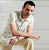 Рубашка мужская хлопок лен большой размер