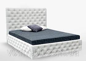 М'яке Ліжко 160 Діанора Підйомне з ламеллю Білий Екошкіра Мат