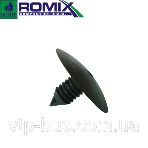 Кліпса кріплення передніх підкрилки (круглий вхід) на Renault Trafic (2001-2014) Romix (Польща) А18000