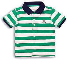 Детская футболка поло в полоску для мальчика 9-10 лет, 134-140 см