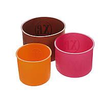 Форма силиконовая для выпечки Пасхи набор из 3 штук