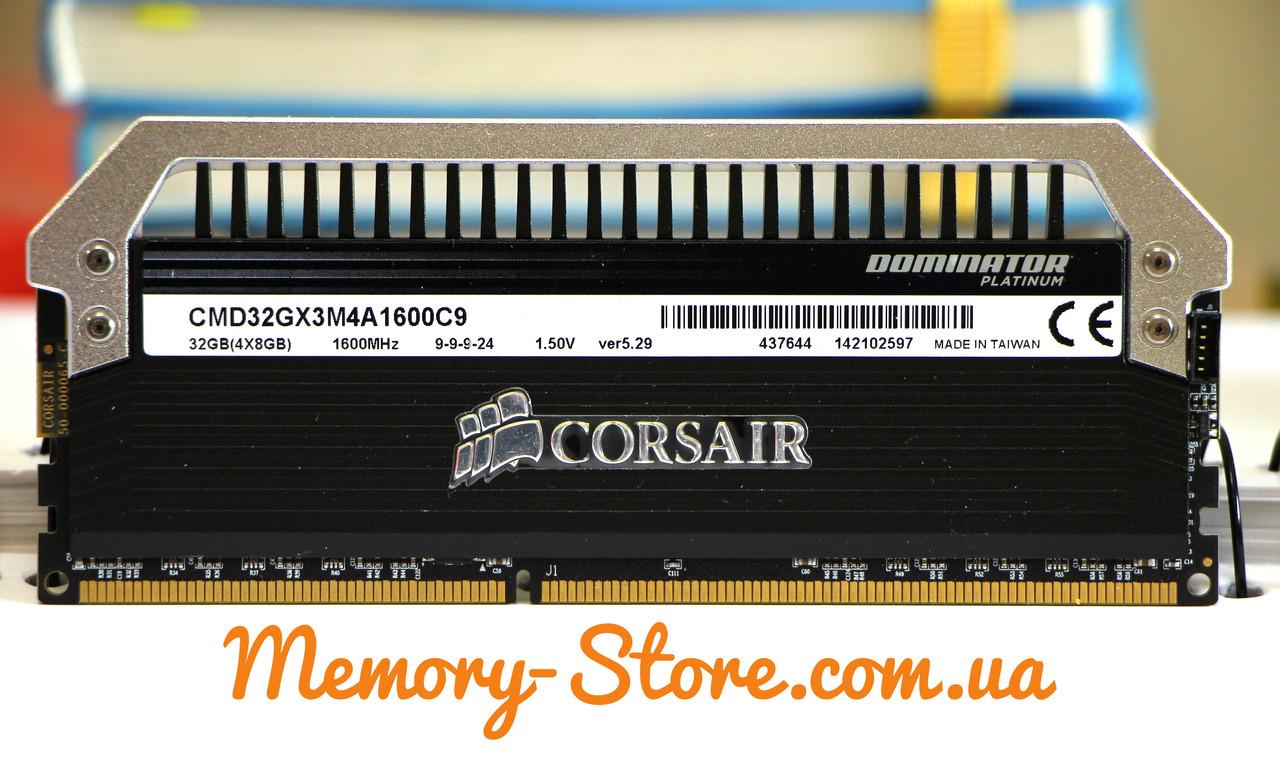 Оперативна пам'ять для ПК Corsair Dominator Platunum DDR3 8Gb PC3-12800 1600MHz