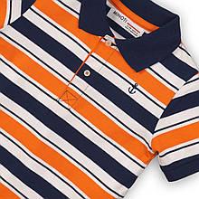 Яркая детская футболка поло для мальчиков 1-6 лет, 74-116 см Minoti, 74-80 см