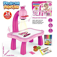 Детский столик Детский мольберт Детский мольберт 3 В 1 Столик проектор Розовывй