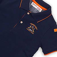 Синяя детская футболка поло для мальчика 12-18 мес, 80-86 см