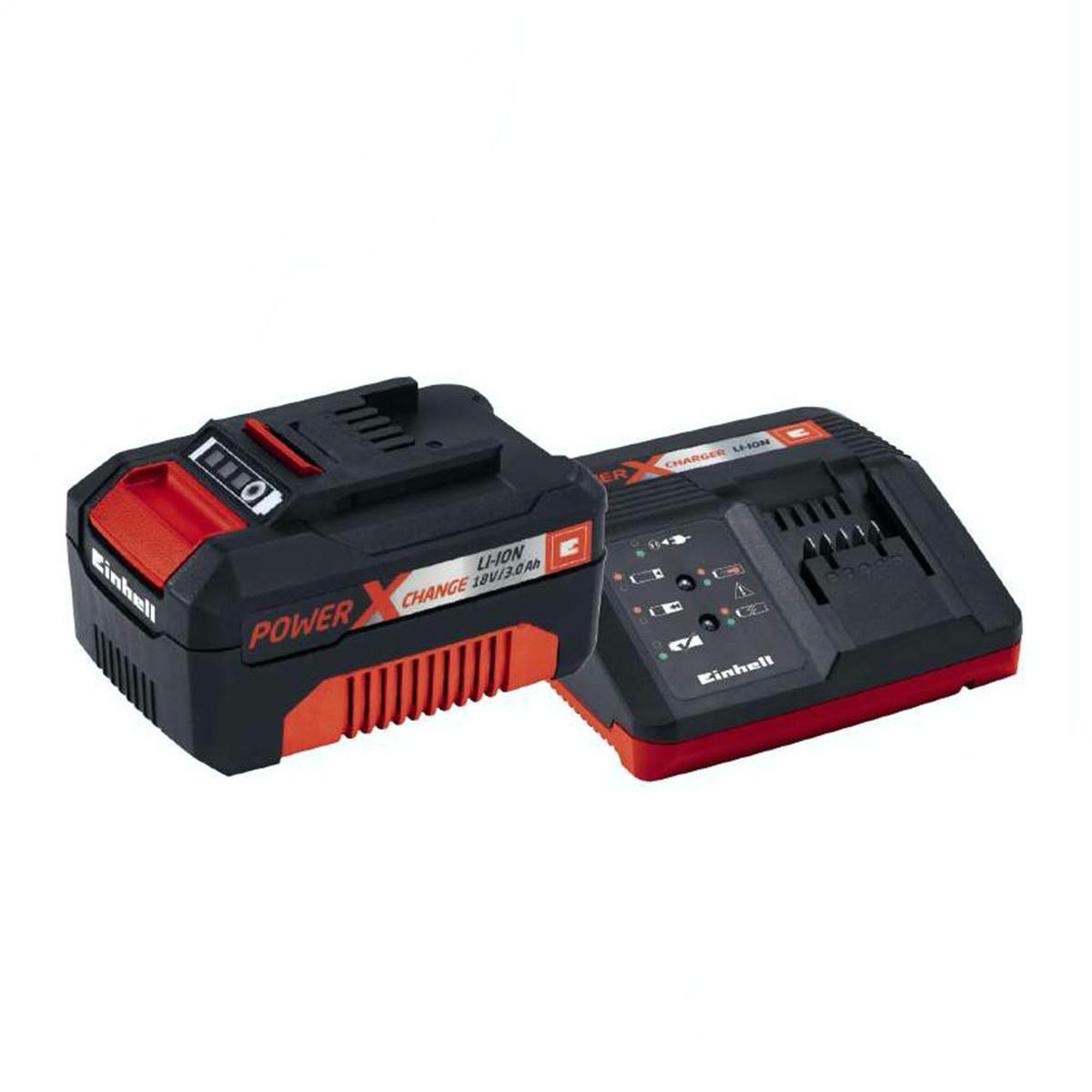 Зарядний пристрій і акумулятор Einhell 18V 3,0 Ач Starter Kit Power-X-Change (4512041)