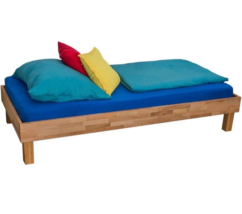 Односпальне ліжко B105 90x200 дерев'яні з бука ТМ Mobler