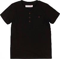 Черная футболка для мальчика подростка 11-12 лет, 146-152 см