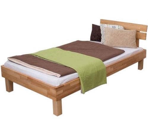 Ліжко односпальне B106 дерев'яні з бука ТМ Mobler