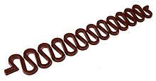 Змійка для плетіння французької коси Fashion 19x2,5 см коричнева