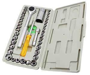 """Набір ключів """"AIWA середня"""" під болти, гайки і зірки, в наборі - ключ, викрутка, подовжувач і 40 на"""