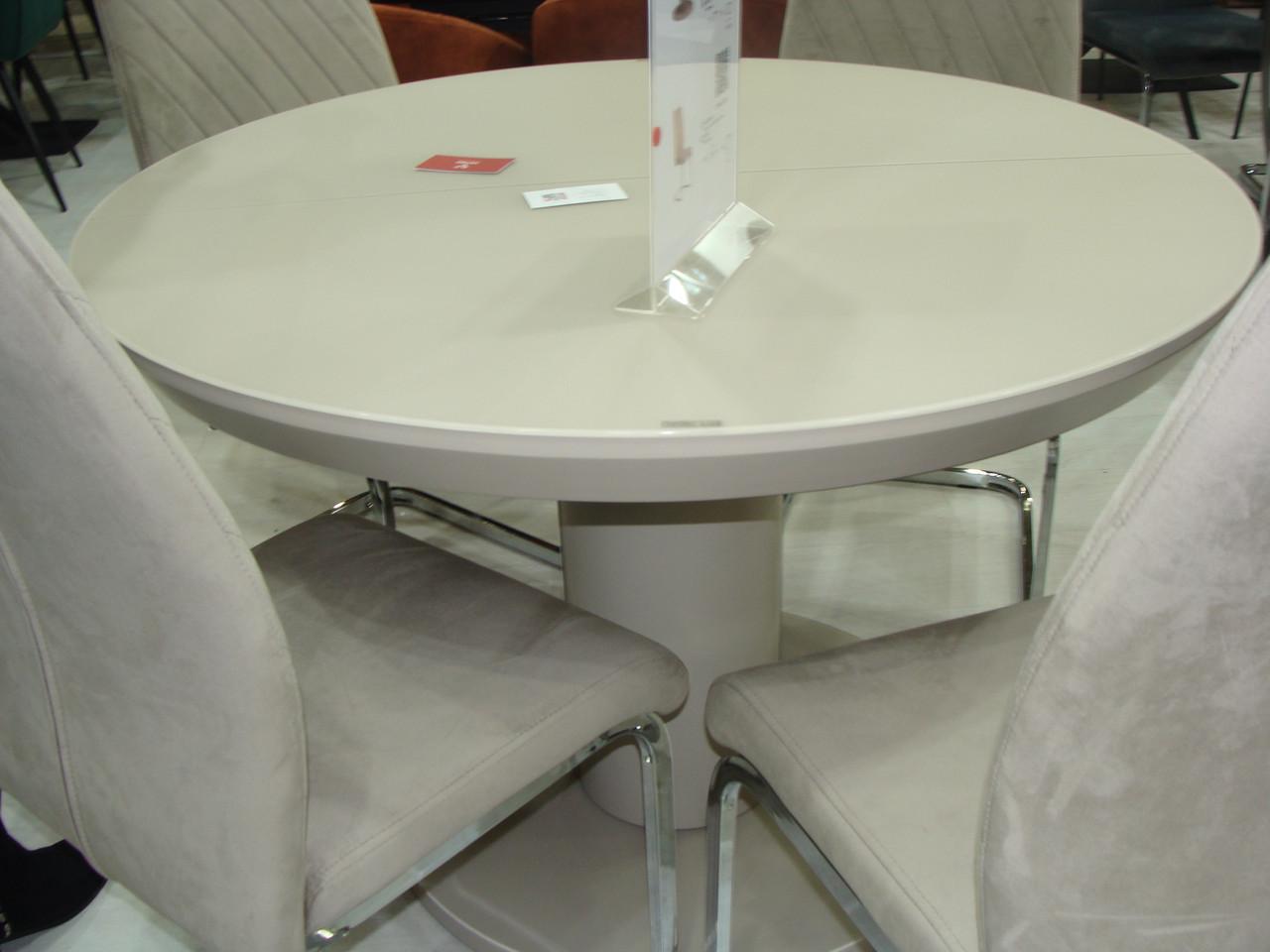 Круглый стол ТМL-519 матовый капучино 110/150 от Vetro Mebel (бесплатная доставка)