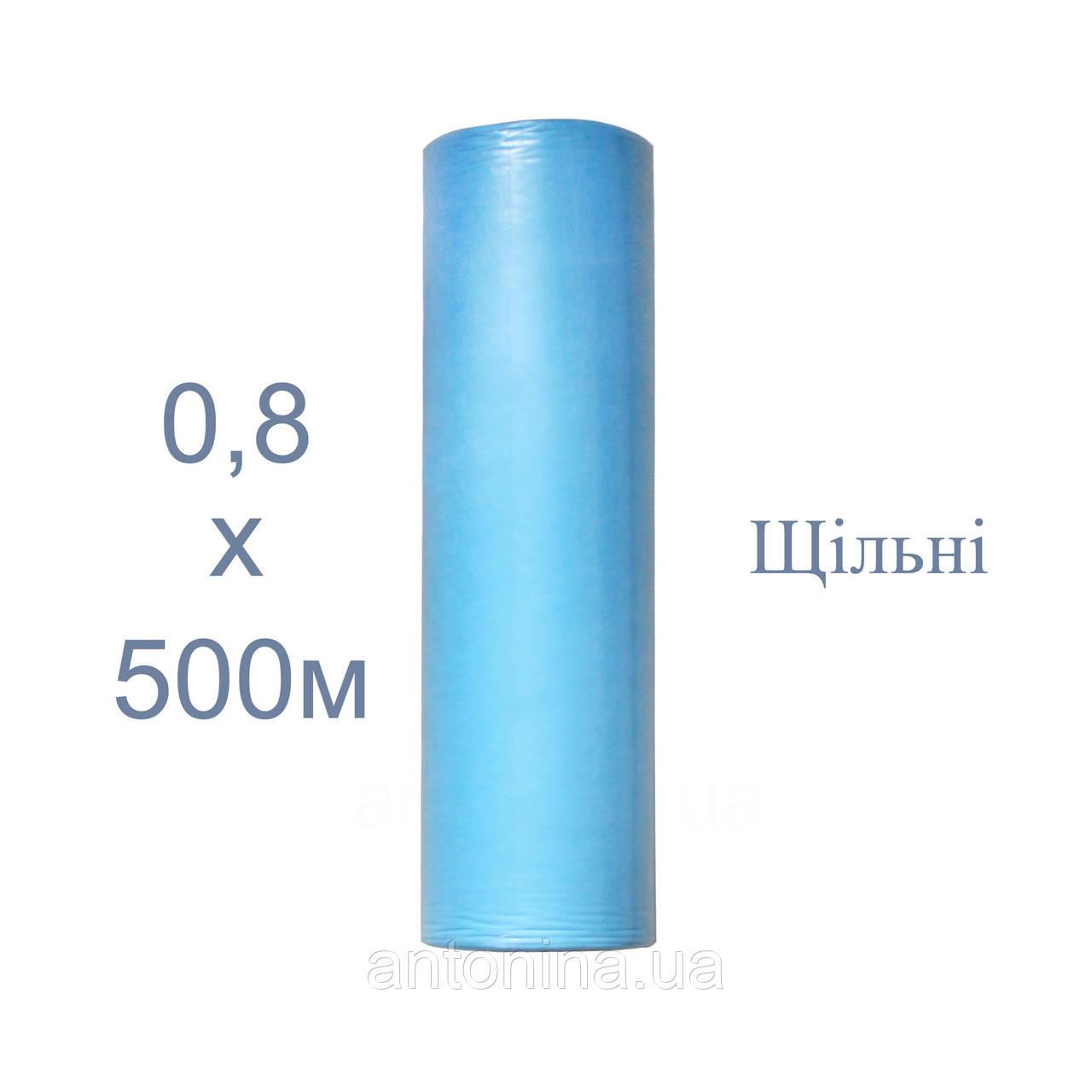 """Одноразові простирадла блакитні 0,8х500м щільні ТМ """"Антоніна"""", спанбонд"""