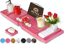 Столик для ванны ROYAL CRAFT WOOD Luxury, бамбуковый, розовый