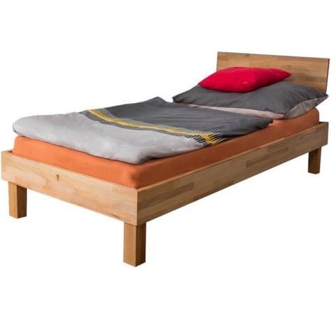 Ліжко односпальне B107 дерев'яні з бука ТМ Mobler