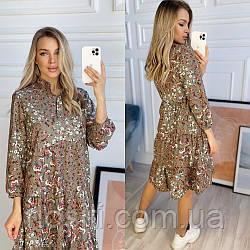 Женское легкое платье в цветочек
