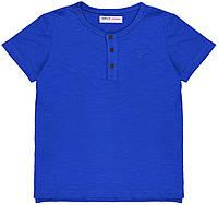 Синяя детская футболка для малыша 1,5-2 года, 86-92 см