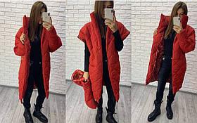 Куртка батальная женская стеганая из плащевки на утеплителе 47-5293