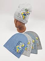 Детские демисезонные вязаные шапки для мальчиков оптом, р.48-50, ANPA (m83), фото 1