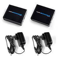 LKV372 HDMI активный удлинитель с БП по витой паре RJ45 UDP 40-50 м