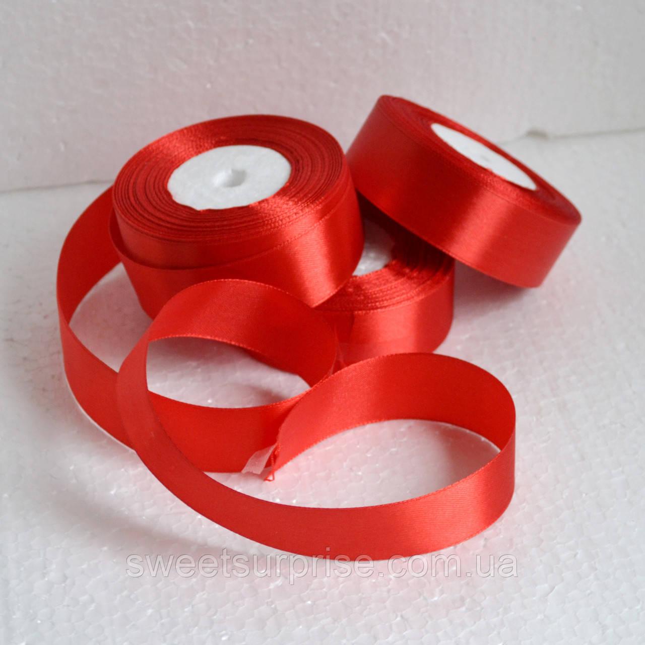 Лента атласная 25 мм (красный)