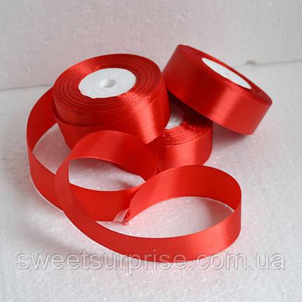 Лента атласная 25 мм (красный), фото 2