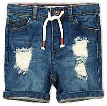 Детские джинсовые шорты-рванки для мальчика 11-12 лет, 146-152 см